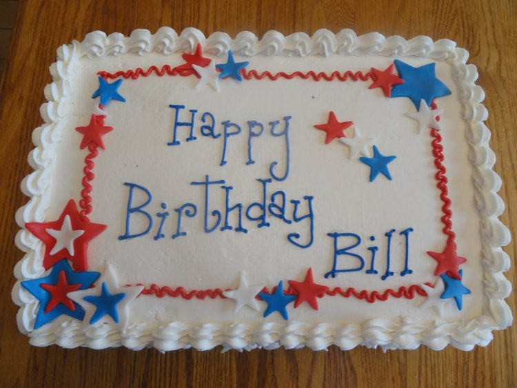 Happy birthday bill cake