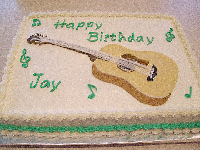 The Bakery Had Cigar Box Cakes And Guitar But Not So I Improvised Happy Birthday Jay
